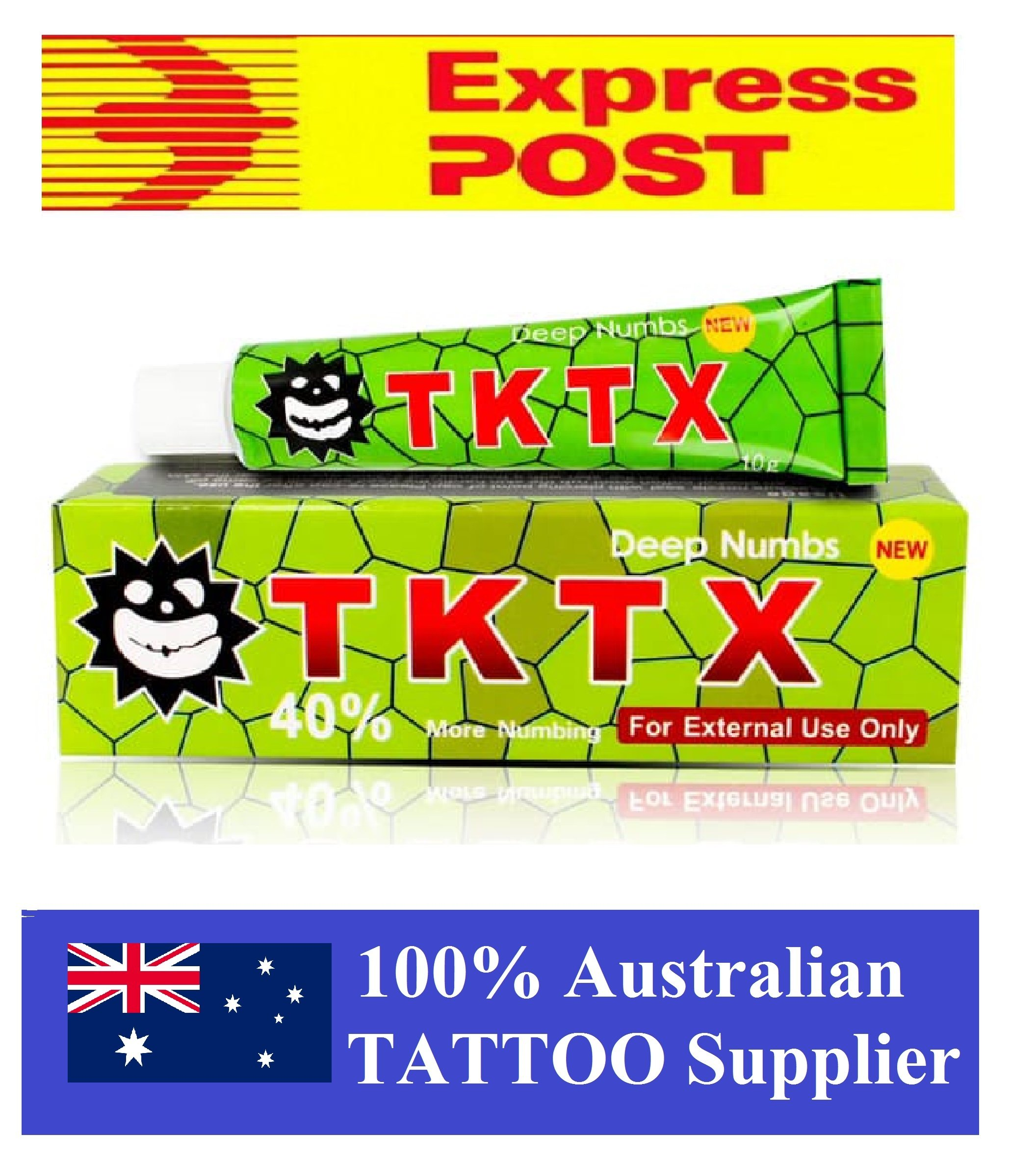 TKTX Green tattoo numbing cream