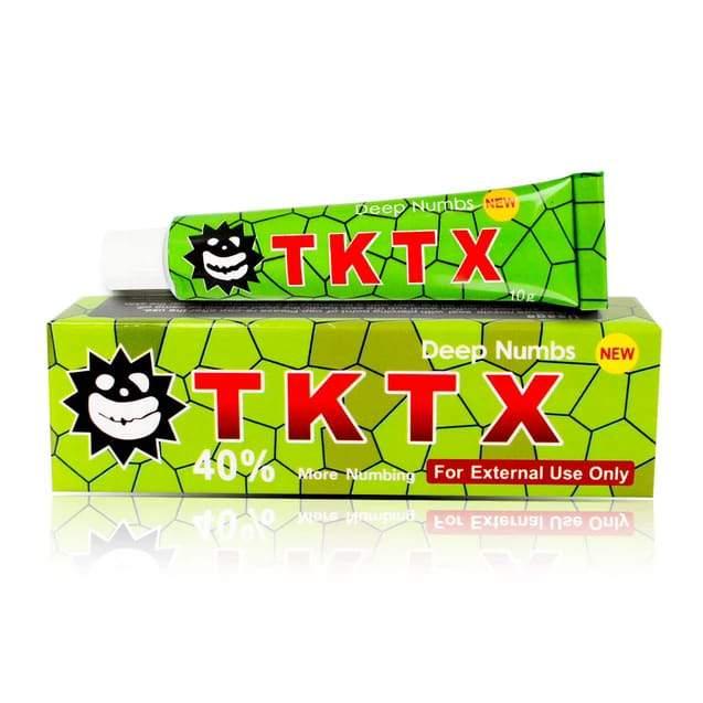 Green Tktx tattoo numbing cream